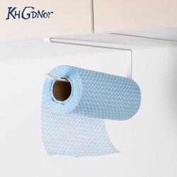 KHGDNOR железная рулонная бумажная стойка, кухонный шкаф, Подвесная подставка для бумажного полотенце, стойка для хранения тканевой пленки