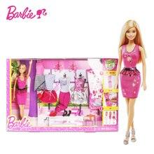 Original Barbie Fashion Combo Girls Creative Designer Superhero To Princess Animal Set Bonecas Girl Doll Baby Toys DKY29 цена 2017