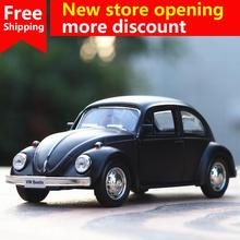 Ant 1:36 simulation Volkswagen beetle alloy car model pull back toy ornaments childrens gift collection