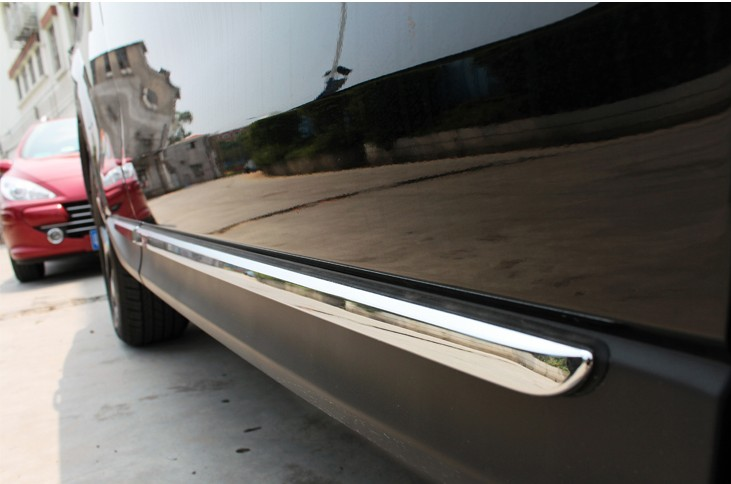 KOUVI ABS Chrome Side Door Body Molding Moulding CoverTrim For 2013 14 15 16 Subaru Forester Accessories 4PCS/SET