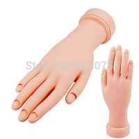 Free Shipping Unflexible Plastic Model Hand Nail Art Practice Training Display Fake New