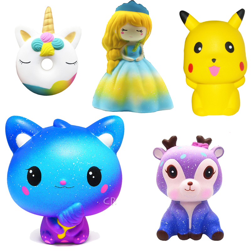 Jumbo Pikachu Squishy Galaxy Slow Rising Cartoon Doll Squeeze Antistress Toys Bread Stress Relief Toy For Kid Children Wholesale