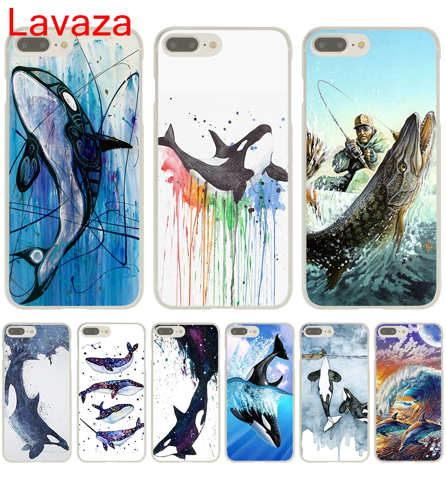 Lavaza Watercolor Whale in Fishing was his life Hard Case for iphone 4 4s 5c 5s 5 SE 6 6s 6/7/8 plus X for iphone 7 case