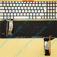 Keyboard Backlight GL551 ASUS SK CZ for N551/N552/N752/.. with Silver Slovakia 9Z.N8BBC.P09