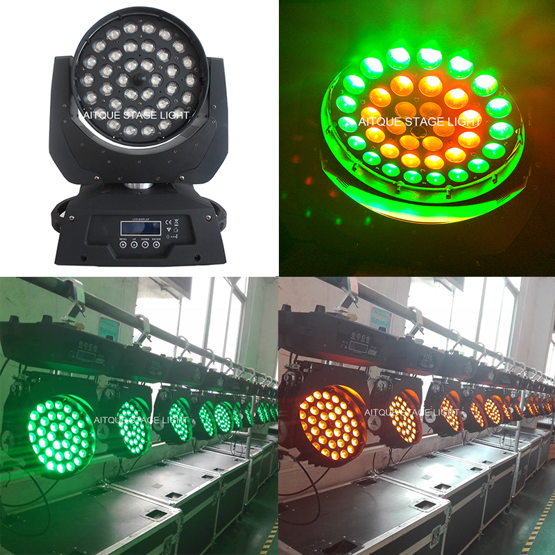 20lot Stage Light Movement Of The Head Wash Light1 36x 15w Rgbaw High Power Led Moving Head Zoomer Lights