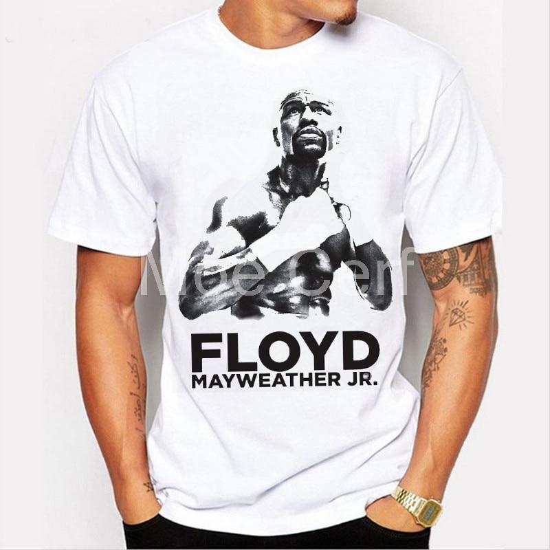 Floyd Mayweather Vs Conor McGregor T Shirt Champion Poids Plume de Champion Du Monde À Manches Courtes T-shirt Hommes MMA T-shirt L9-D-59