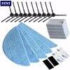 NTNT 10side Brush 5hepa Filter 5Mop Cloth 4 Velcro For Chuwi Ilife V5s Ilife V5 Pro