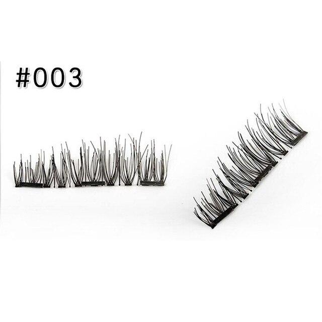 3 Aimant 3D Magnétique Cils Aimant Lashes Épais Réutilisables Faux Cils Main Non Colle Eye Lashes Maquillage Kit 4 pcs/paire 3