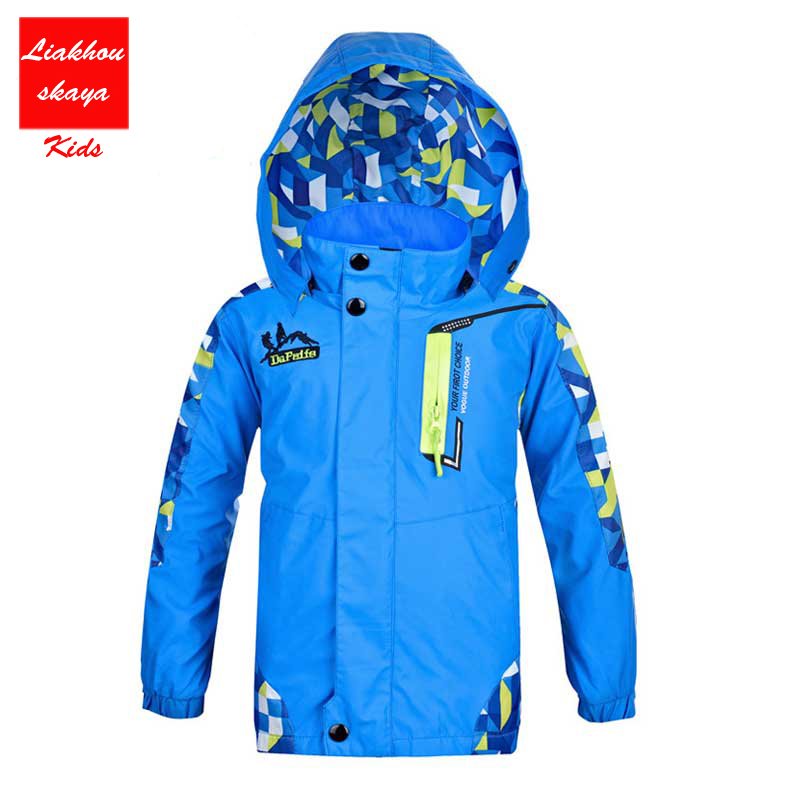 2017 New Kids Spring Winter Bomber Jacket For Girls/Boys Raincoat Windbreaker Double-Deck Waterproof Windproof Hoodedtrench Coat merries детские подгузники 6 11kg m 64 шт импорт из японии