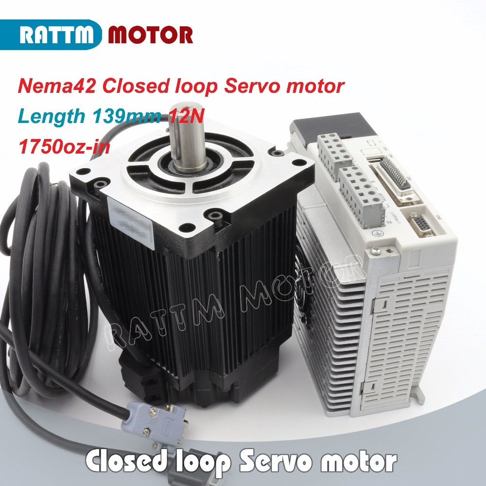 <font><b>110</b></font>(Nema42) Closed-loop Servo <font><b>motor</b></font> 12N.m 1750oz-in 3-Phase Hybrid stepper <font><b>motor</b></font> & 3HS Step-servo Driver CNC Controller image