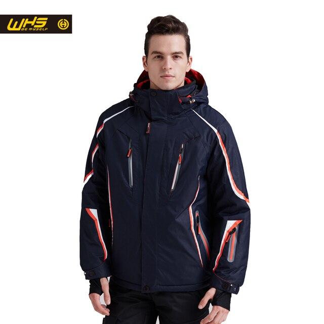 WHS 2017 новые лыжные куртки мужчины ветро-и теплое пальто мужчины водонепроницаемый сноуборд куртка подростков открытый спортивный костюм зима