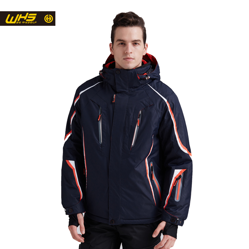 WHS 2018 Νέο σκι ζακέτα άνδρες αδιάβροχο ζεστό παλτό αρσενικό αδιάβροχο εφήβων σακάκι σακάκι Υπαίθρια αθλητικά ρούχα χειμώνα
