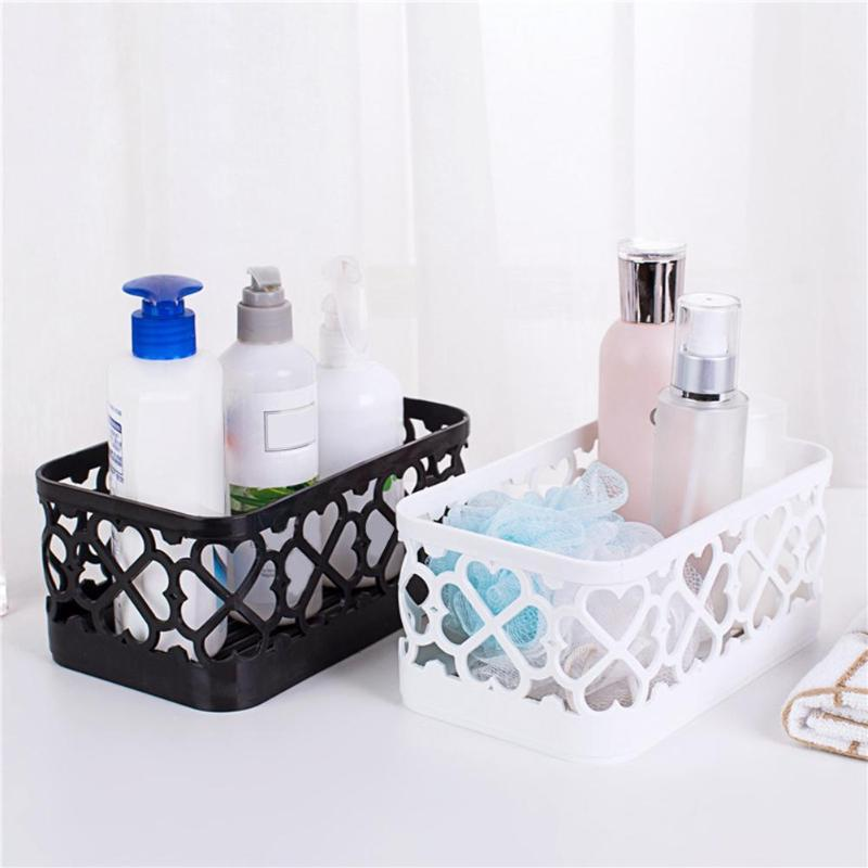 Hollow Plastic Box Makeup Holder Storage Organizer ...