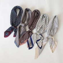 Women fashion silk scarf chiffon Square Cravate Scarves Little Head Neck Hair Tie Band Multi-Color Neckerchief for girls gift