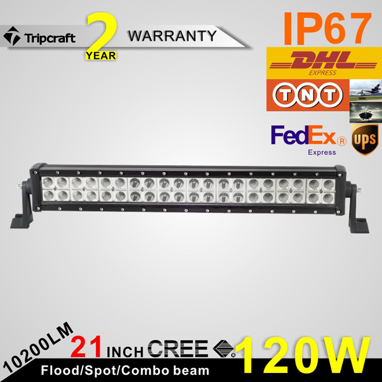 21 inch 120W LED Light Bar For Truck Trailer Boat Ute Car SUV ATV Offroad Led Driving Lamp flood/Spot/combo 12V 24V headlight