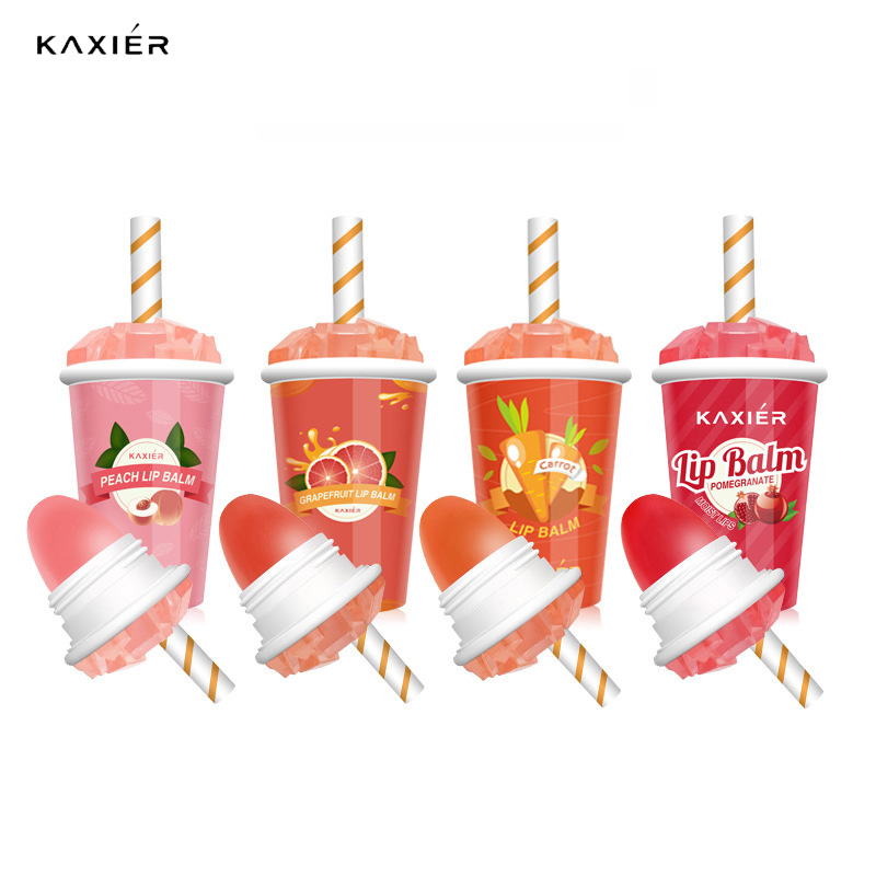 KAXIER 4 Colors Cute Lip Balm Ice Cream Lipstick Temperature Color Changed Moisturizing Korean Cosmetics Long Lasting Lip Balm