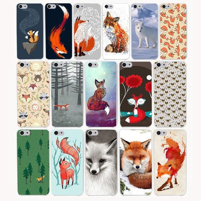1417ca прекрасное животное лиса чай жесткий прозрачный case cover для iphone 7 7 плюс 4 4S 5 5S 5c se 6 6s плюс case крышка