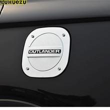 Luhuezu Accesorios Cromado Cubierta Del Tanque de Combustible Gas Tapa Para Mitsubishi Outlander 2016 2017