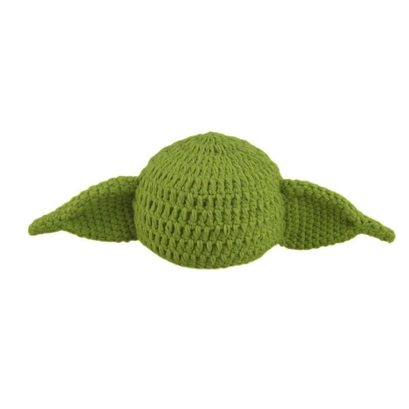 Hot Crochet Baby Yoda Hat Beanie recién nacido Niño dibujos animados ...