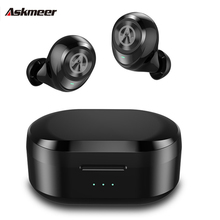 ASKMEER TWS Bluetooth 5.0 Earbuds Sport Wireless 3D Stereo Earphone Bass Earphones with Mic and Charging Box for iPhone Xiaomi