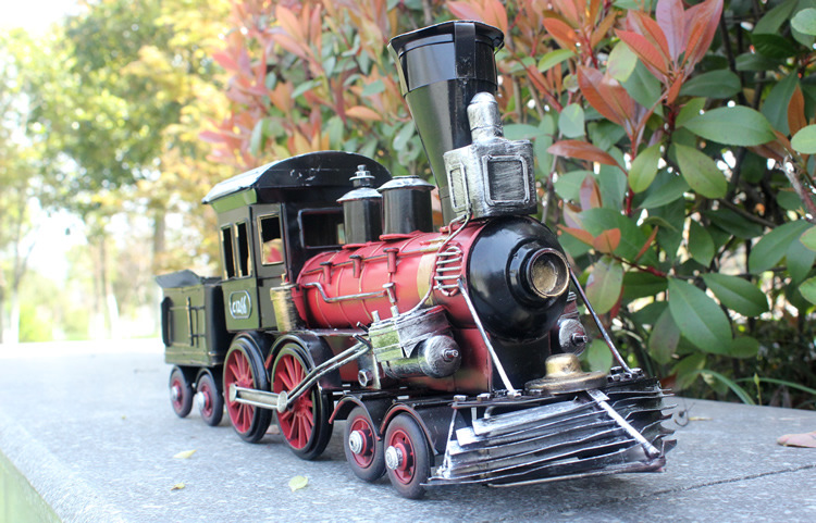 ФОТО large size Train model Retro iron locomotive car-styling toys for children High-grade handicrafts