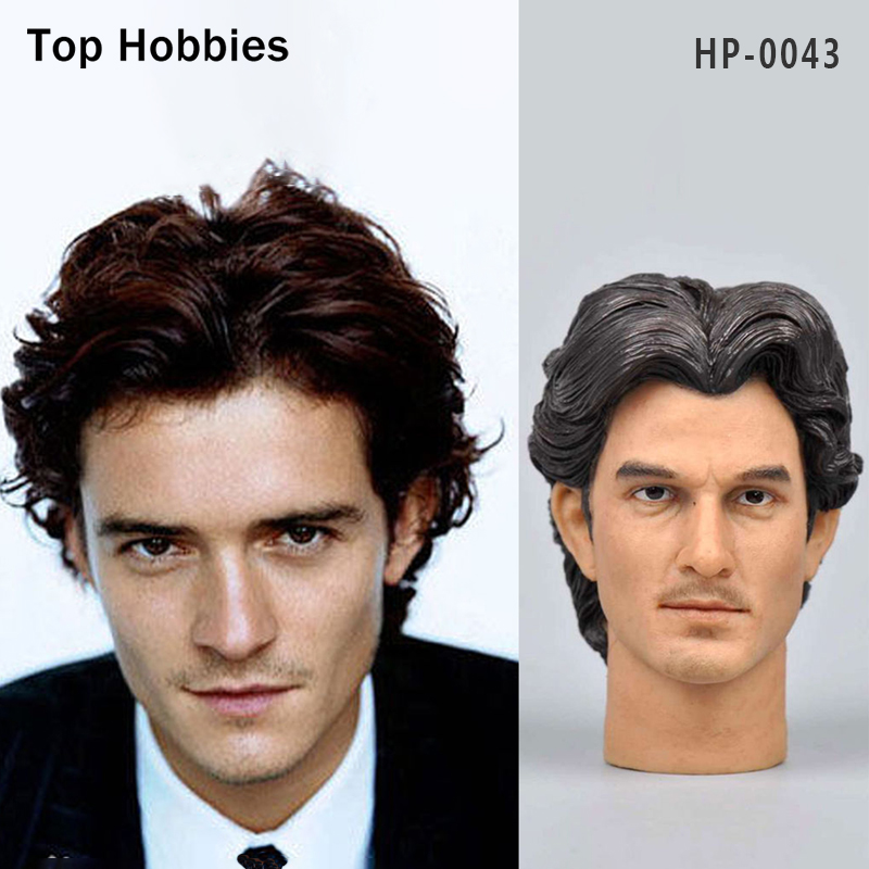 Headplay 1/6 Male Head Sculpt Soldier Military HP-0043 Orlando Bloom Carving Model Fit 12