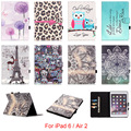 For Apple iPad 6 iPad6 Case Fashion Mandala Flower Skull Pattern Folio PU Leather Protector Back Cover For iPad Air 2 Air2 9.7''