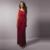 Foto real Borgonha Mães Calças Terno Para O Casamento de Noiva Duas Peças Mãe do Vestido Da Noiva de Um Ombro Mangas Vestido Modesto