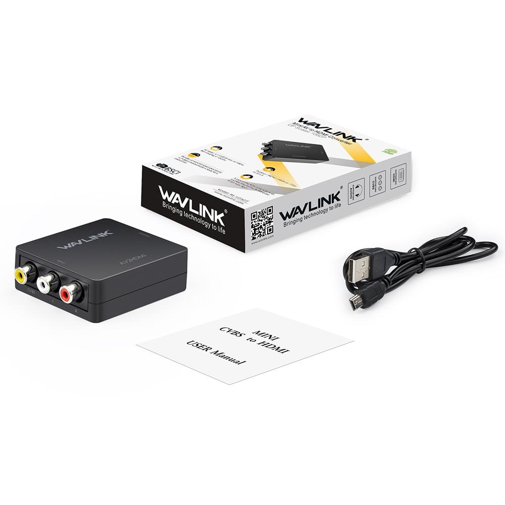 Wavlink Mini 3 RCA Μετατροπέας AV σε HDMI - Καλώδια και σύνδεσμοι υπολογιστών - Φωτογραφία 6