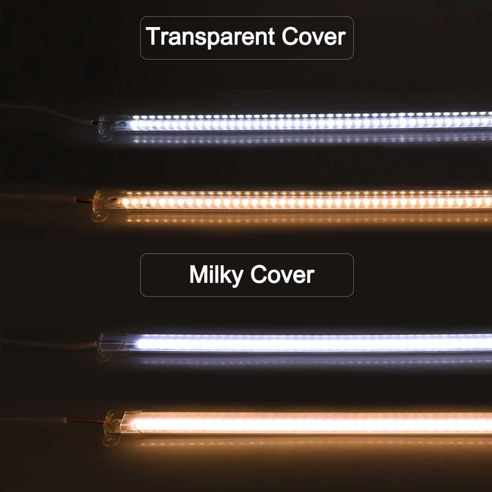 2 шт. светодио дный бар свет 5730 72 светодио дный s 50 см высоком Яркость AC220V ультра тонкий жесткий полосы света быстро подключить светодио дный лампах