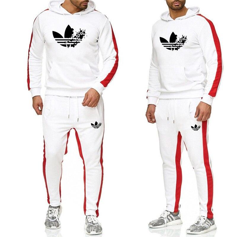 2019 Tuta Da Uomo Di Grandi Dimensioni Mens Vestiti Di Sport Felpa Con Cappuccio Vestito Di Pista Sportswear Sudore Vestito Di Sesso Maschile Felpa Pant Vestito Di Pista Giacca