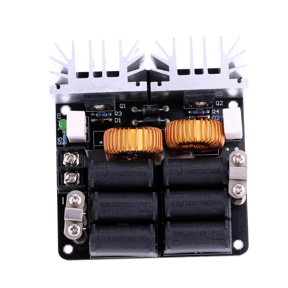 Low ZVS 12-48V 20A 1000W  Low Voltage Induction Heating Board High Frequency Induction Heating Machine Module