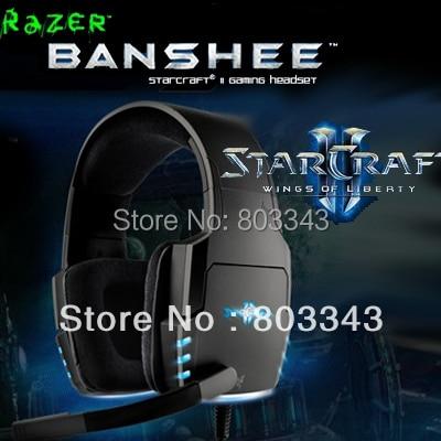 Original Razer Banshee gaming Headphone, StarCraft 2 headphone, Free shipping