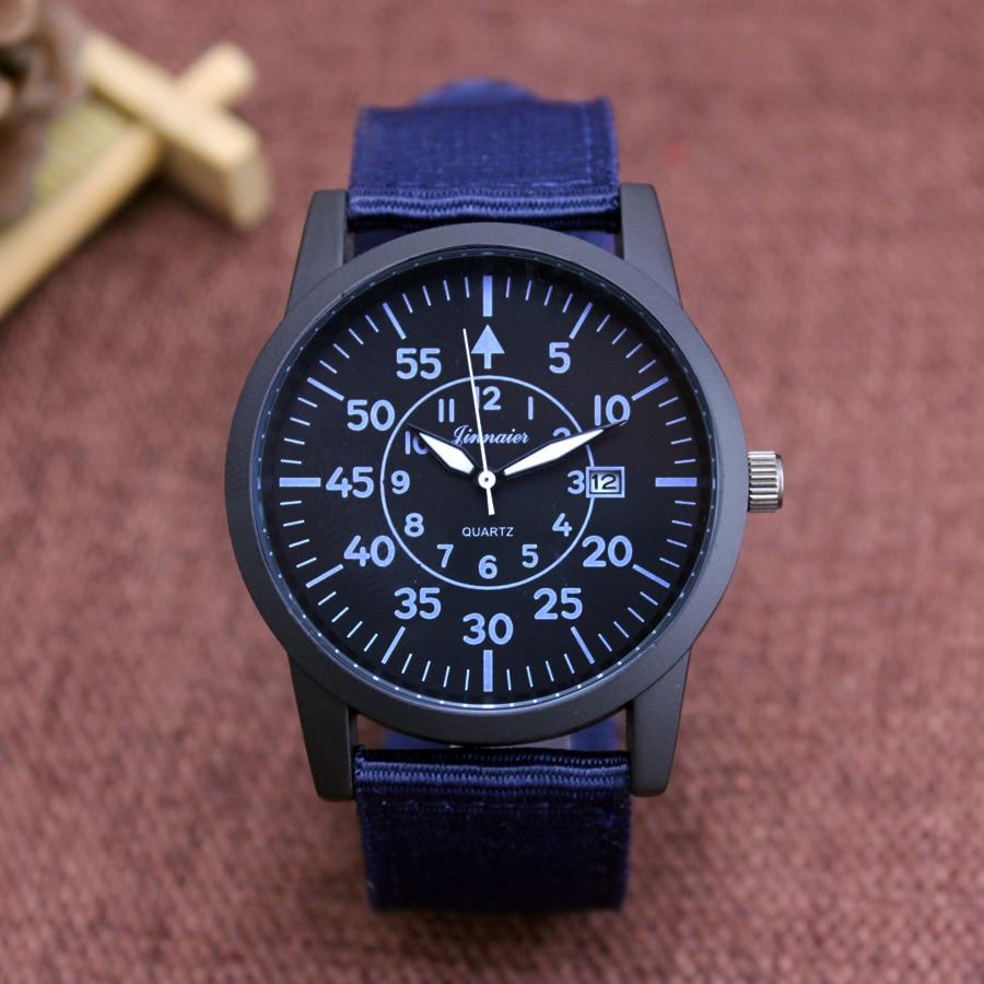 JINNAIER Famous Brand Men Children Boys Fashion Cool Quartz  Complete Calenda Watches Students Canvas Electronic Wrist Watch