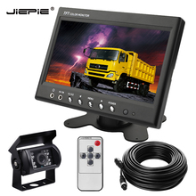 Vehicle Backup Camera Monitor System,Reversing Reverse Rear View with 20M Aviation Cable+7 inch Car for bus truck