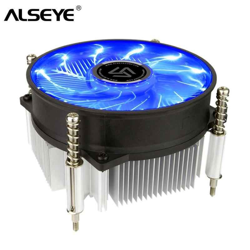 ALSEYE CPU Cooler Fan 90mm LED CPU Fan Radiateur TDP 95 w 2200 rpm Refroidisseur pour LGA 1150/ 1151/1155/AM2/AM2 +/AM3/AM3 +/AM4