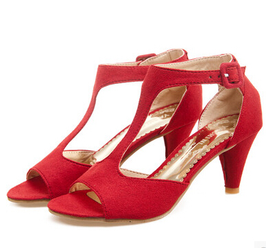2015 rojo Esmerilado Yardas Pescado Sandalias Negro rosado Grandes Cabeza T Verano Para Dulces Personalizados Mujer Hebilla De Moda Xie Shunv Lindos rw7qf0Rr