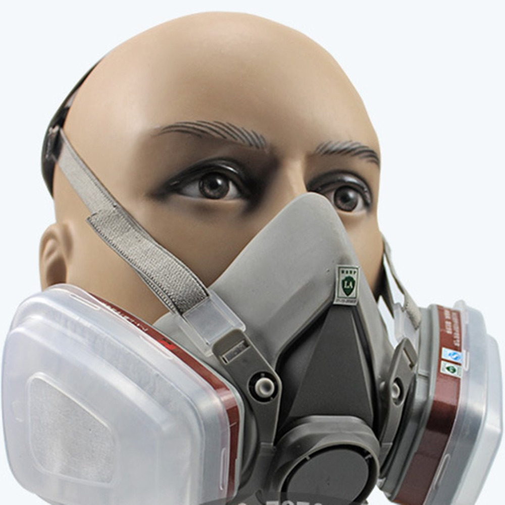 Analytical Professional Full Face Facepiece Respirator For Painting Spraying Work Safety Masks Prevent Organic Vapor Gas Drop Shipping To Have A Unique National Style Event & Party Party Masks
