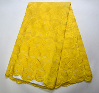 Special offer African swiss voile lace fabric cotton nigeria dry lace with stones high quality african lace yellow