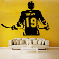 ZN A005 Hockey player Wall art Decal sticker Choose Personalise Custom Name number Creative Mural Boys Bedroom Home Decor