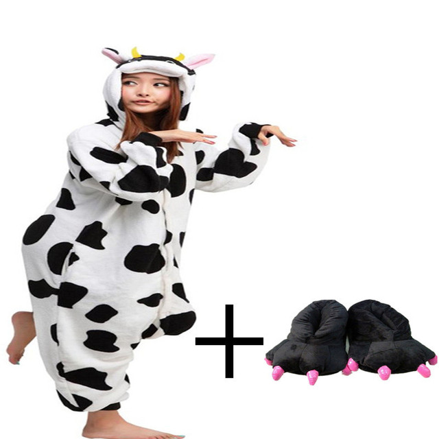 2015 Winter Pajamas Long Sleeve Onesie Cow Suit Adult Funny Paw Shoes Animal Appropriate Sleeping Rompers  sc 1 st  AliExpress.com & 2015 Winter Pajamas Long Sleeve Onesie Cow Suit Adult Funny Paw ...