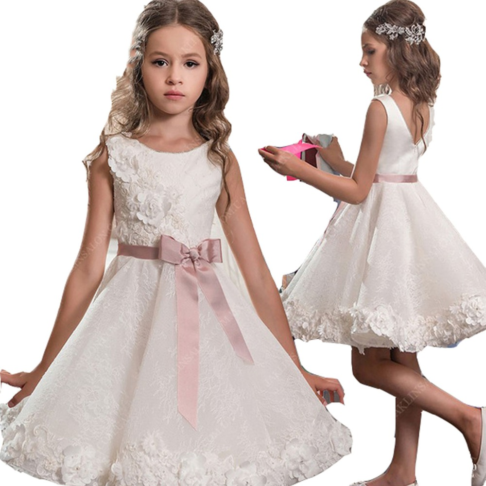 white 2019 flower girl dresses for weddings a line mini