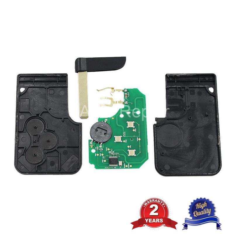 10 шт. Smart Remote Key Card 3 кнопки для Renault Megane II Scenic II Grand Scenic 2003 2008 PCF7947chip 433 МГц - 2