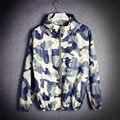 2016 Новый бренд Камуфляж весна Куртка Мужчины Повседневная Лето Женщины Мужчины Военные Куртки и Пальто