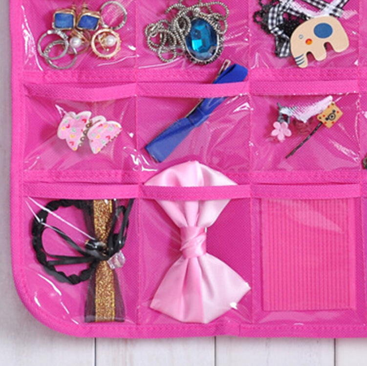 Jewelry Hanging Storage Bag Wall Holder Door Rack Necklace Earring
