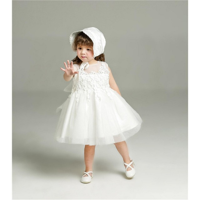 a211d0719 2017 Cute White Red Spring Summer Scoop Flowers Lace Sleeveless Embroidery  Zipper Flower Girl Dresses Girl Pageant dress 2-4T