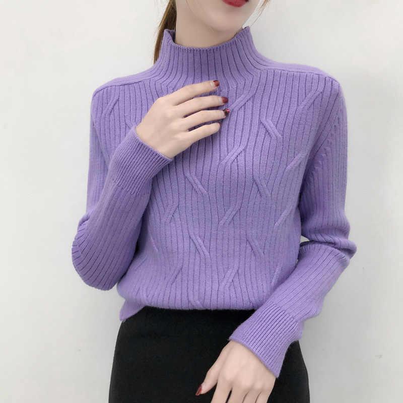 Voor dames Herfst en Winter 2018 nieuwe stijl lui losse trui met lange mouwen gebreide onderkant jas verdikte