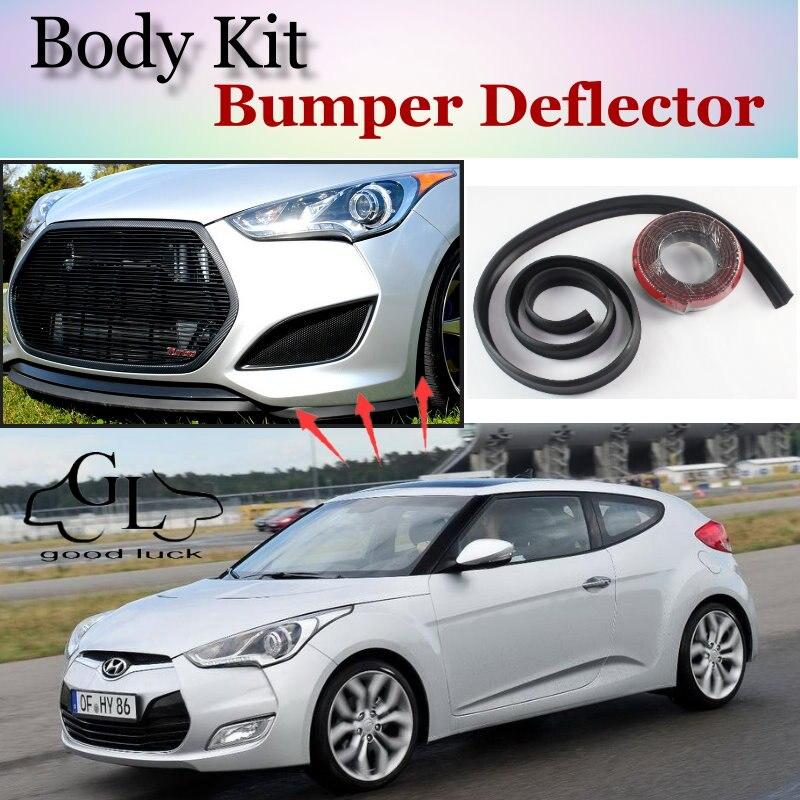 for hyundai veloster bumper lip front spoiler deflector. Black Bedroom Furniture Sets. Home Design Ideas
