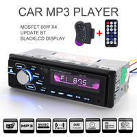 Universal 12V 60W x 4 Car Bluetooth Hand free Audio Stereo MP3 Player FM Radios Support USB / SD / MMC with Remote Control