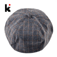 Classico della Moda Plaid Berretto Cappelli Per Le Donne di Inverno di  Autunno di Boina Caps 15f4dd66bc91